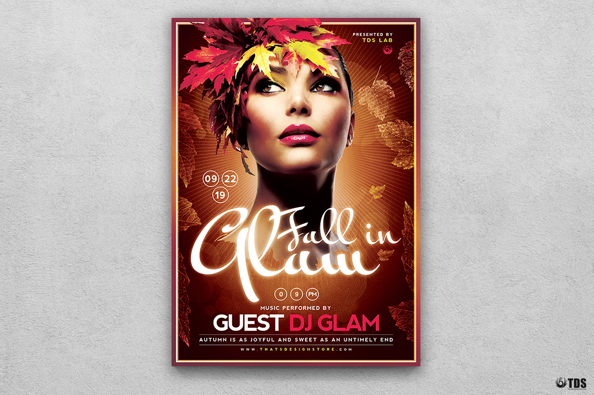 Fall in Glam Flyer Template V5 example image 1