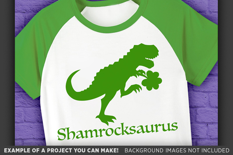 Dinosaur Svg File - Shamrockasaurus St. Patricks Day - 1067 example image 3