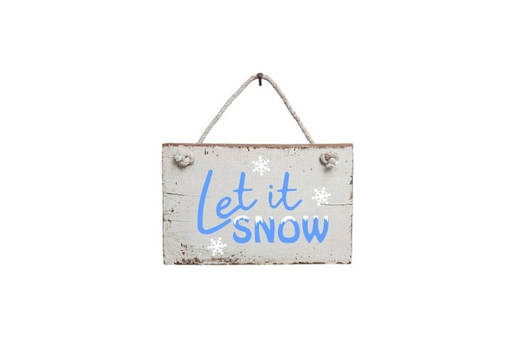 Let It Snow Svg, Winter Svg, Christmas Svg, Snow Svg example image 2