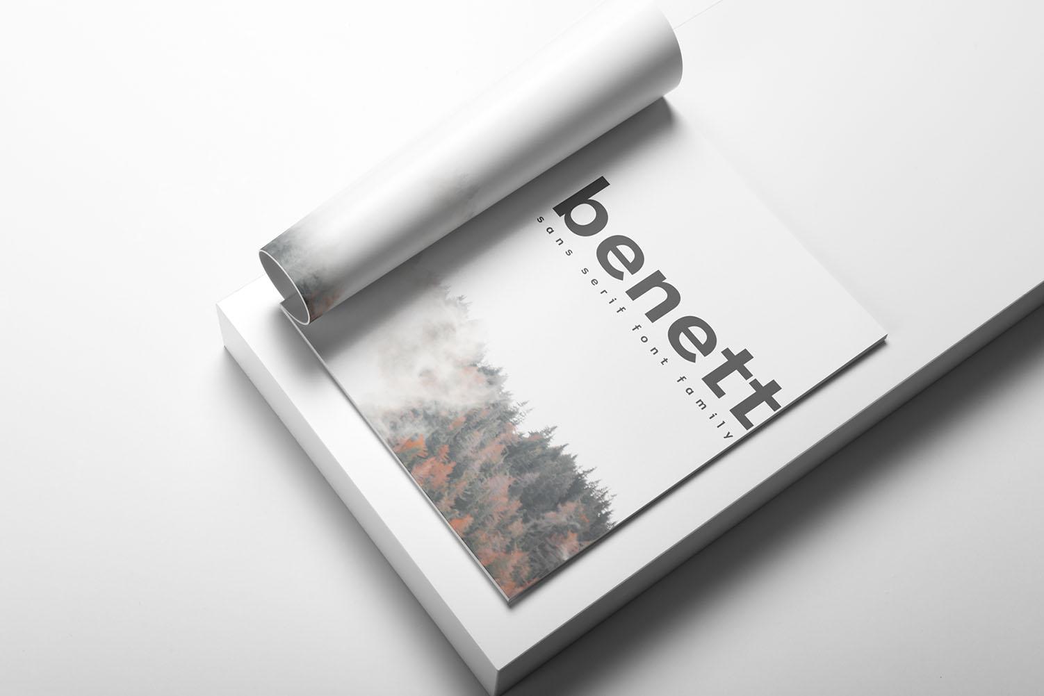 Benett Sans Serif Font Family example image 9