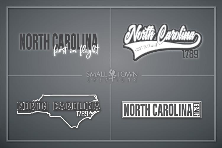 North Carolina, First in Flight-slogan, PRINT, CUT & DESIGN example image 1