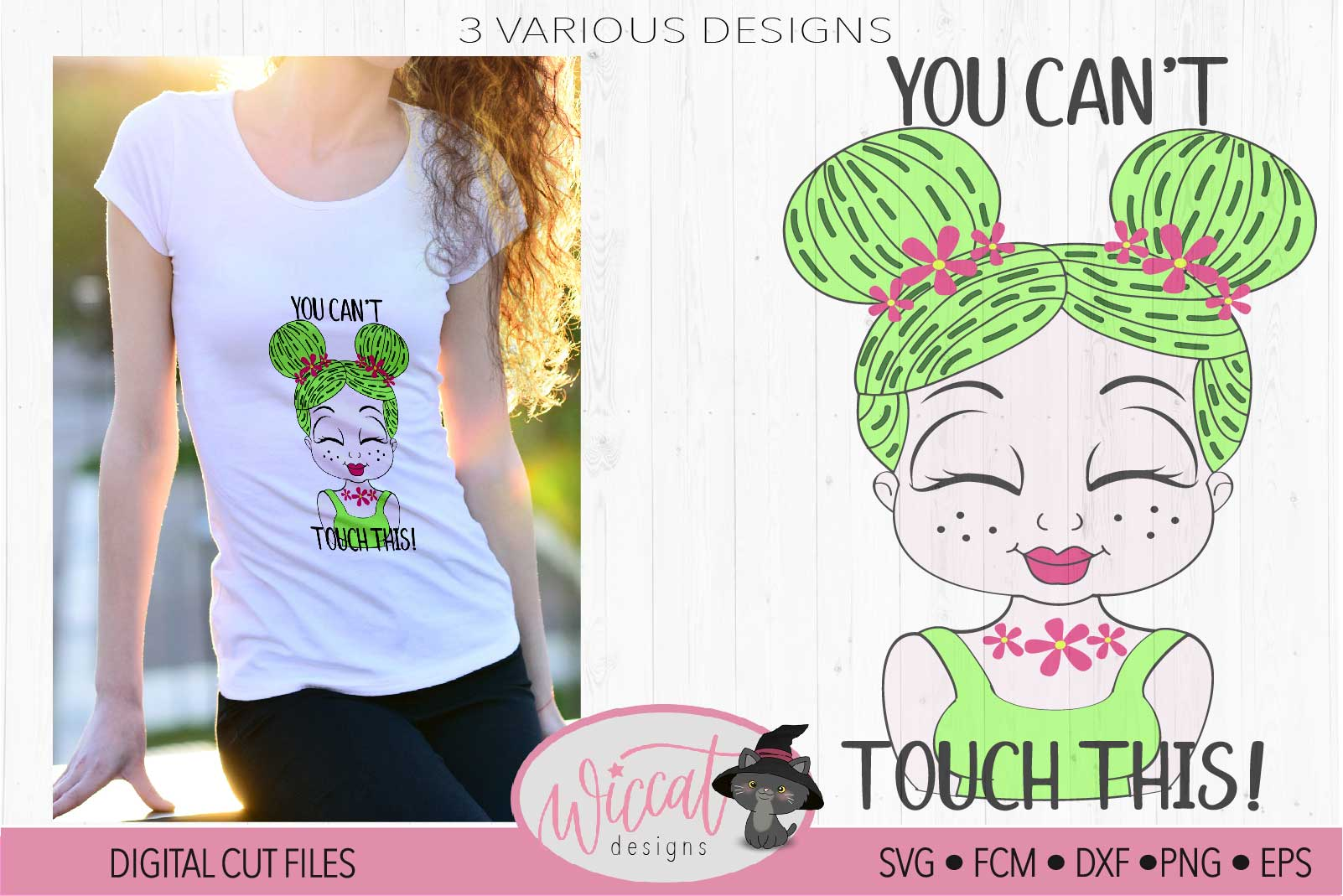 Cactus girl with you can't touch this quote example image 1