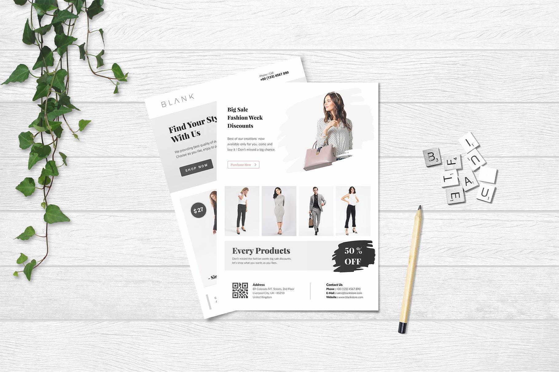 BALNK Minimal Fashion Flyer example image 3