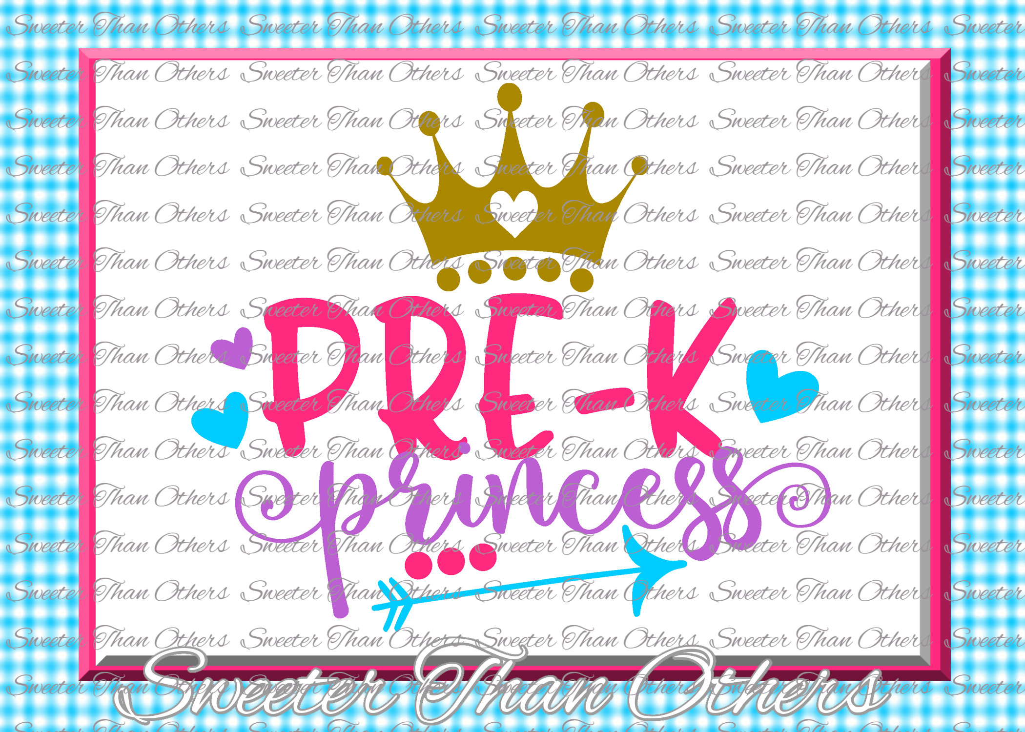 Pre K Princess SVG Pre Kindergarten cut file example image 1