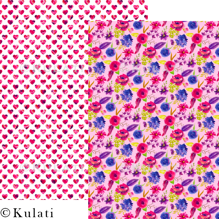 Bohemian Summer Watercolor Floral Patterns example image 5