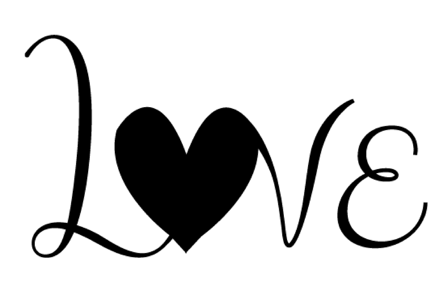 Download Love with heart svg CUT file for Silhouette cameo or ...
