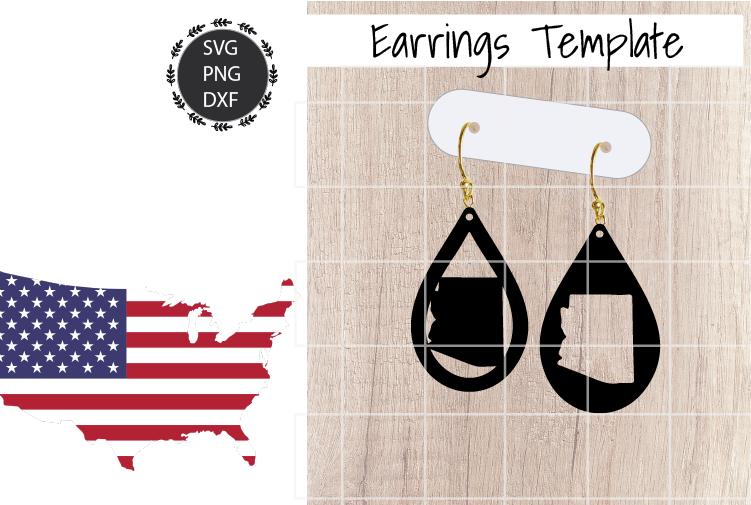 Earrings Template - Arizona Teardrop Earrings Svg example image 1