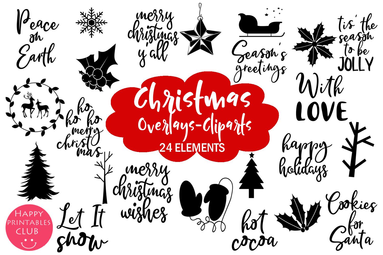 Christmas Clipart- Christmas Overlays-Holiday Graphics example image 1