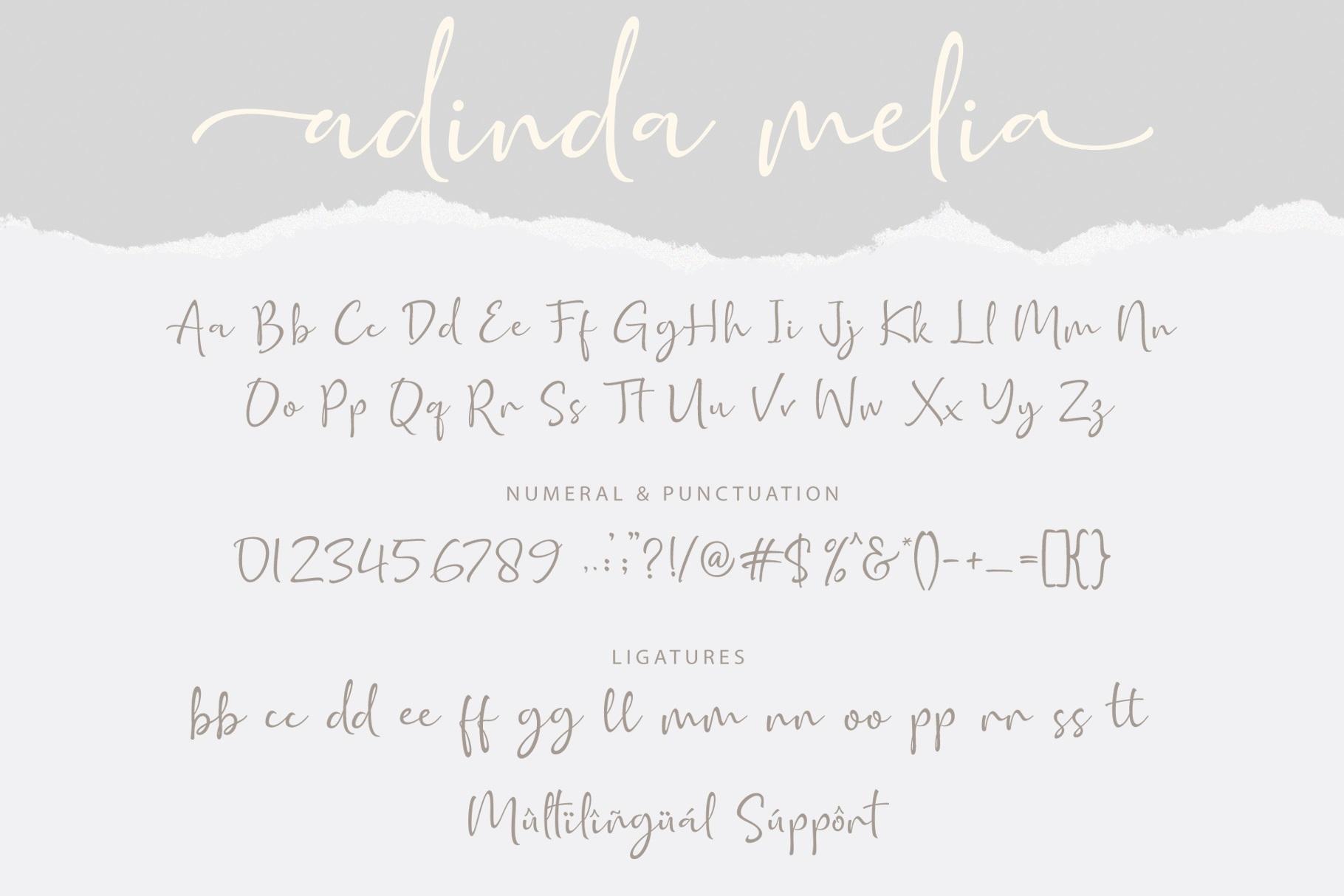 Adinda Melia / Handwritten Script example image 10