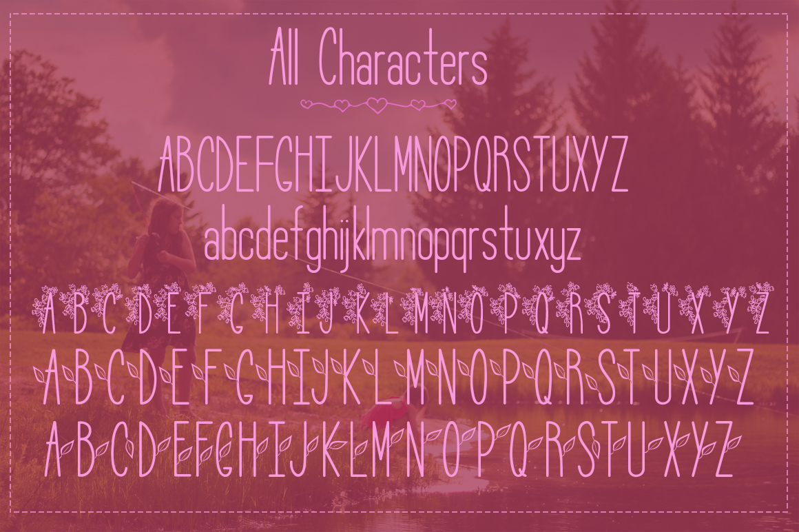 Lily Bloom Flowery Font example image 6