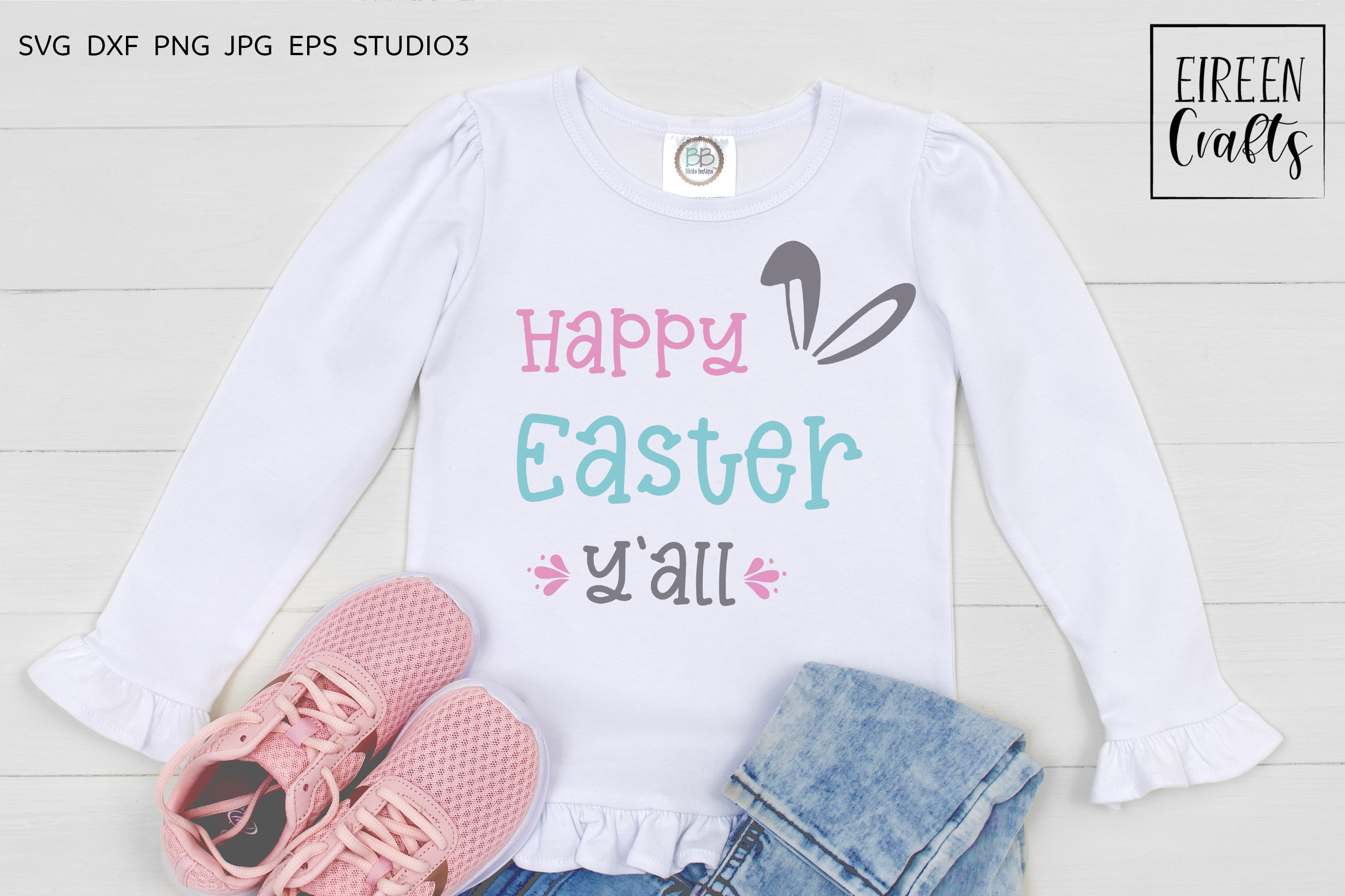 Happy Easter Y'all SVG - cut file for Cricut & Silhouette example image 1