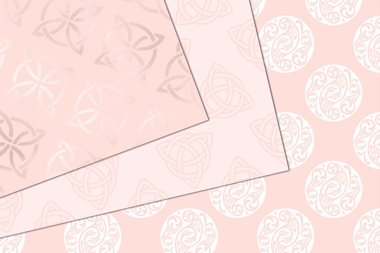 Blush Pink Celtic Digital Paper example image 3