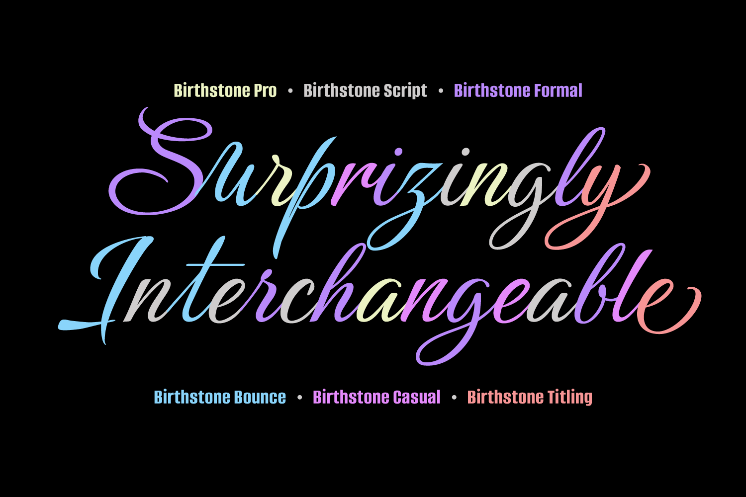 Birthstone Font Family example image 13
