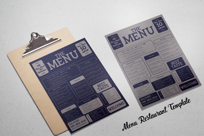 Restaurant Menu Template example image 2