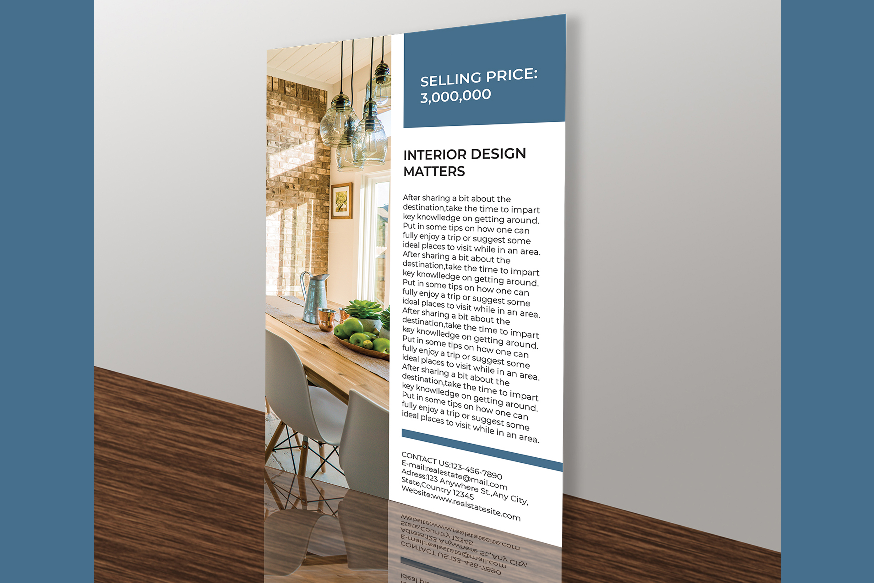 Professional Real Estate Flyer A4 - Printable Templates example image 12