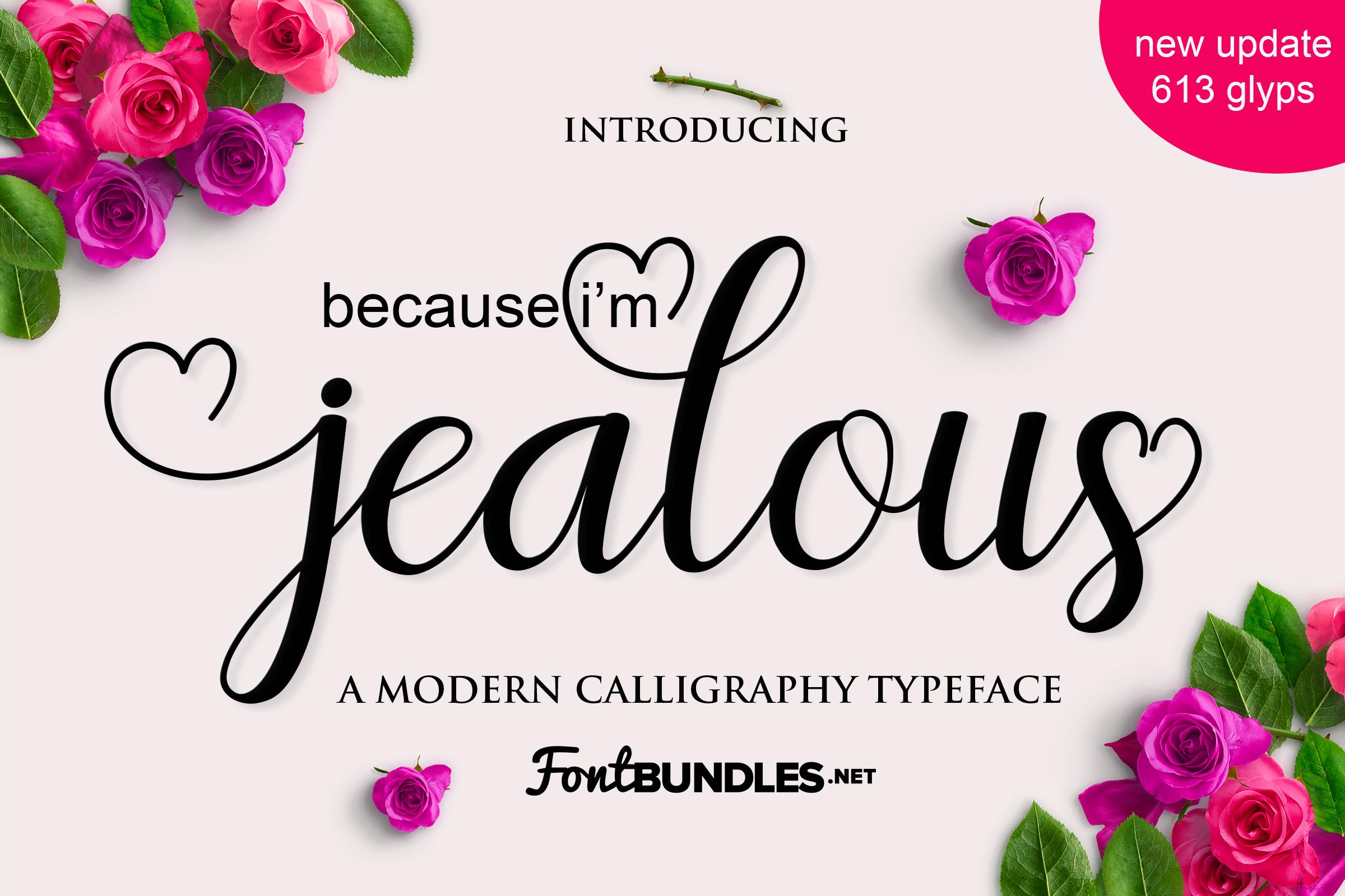 Jealous Script  example image 1