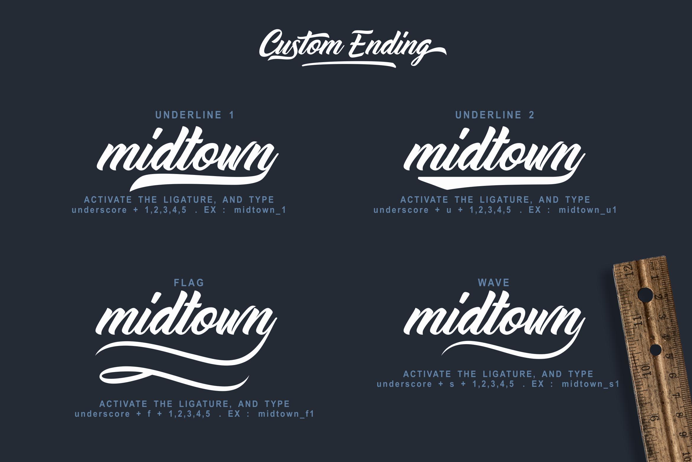 Midtown Stylish Font example image 3
