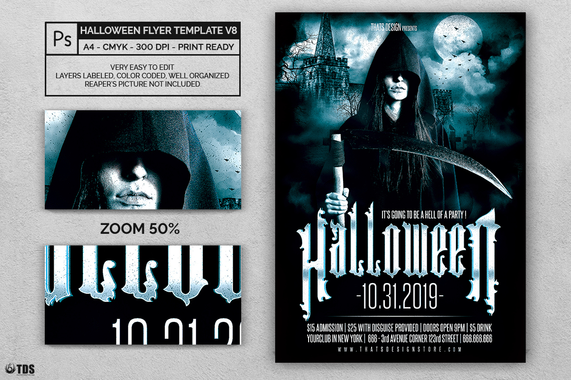 Halloween Flyer Template V8 example image 2