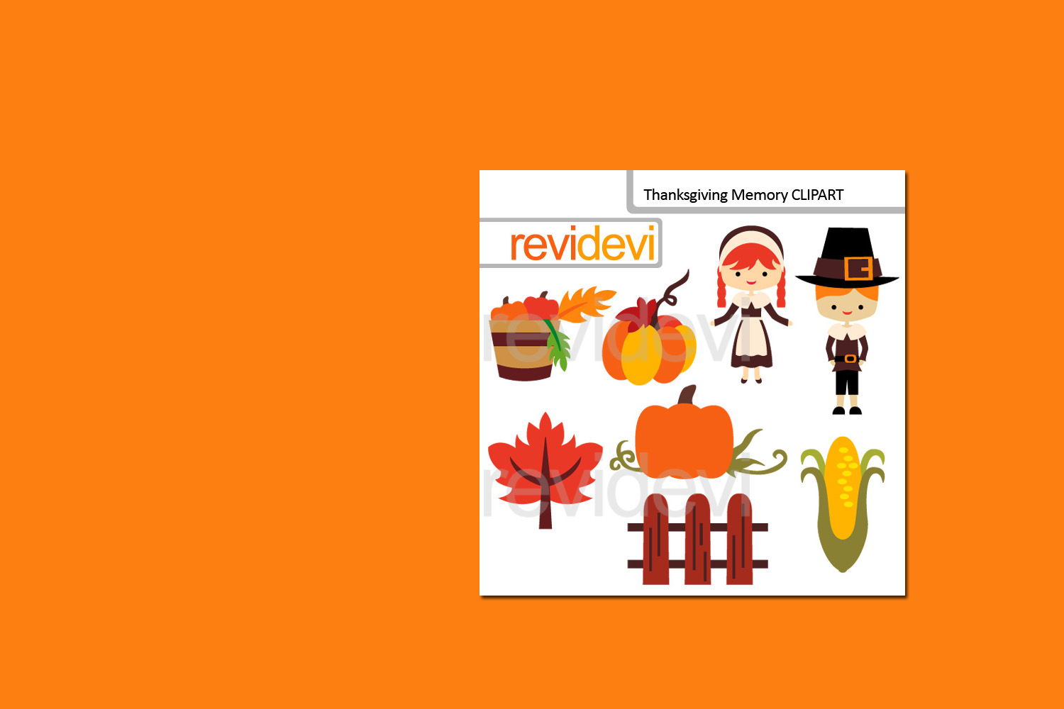 Happy Thanksgiving Bundle Graphics Clipart example image 3