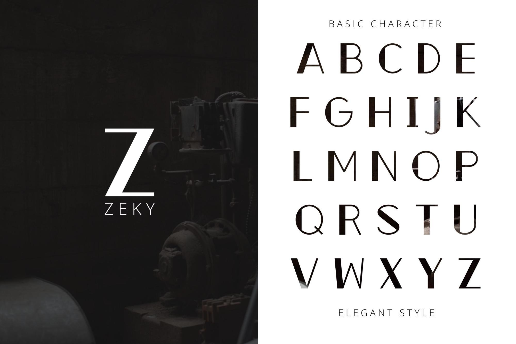 Zeky Typeface Font example image 4