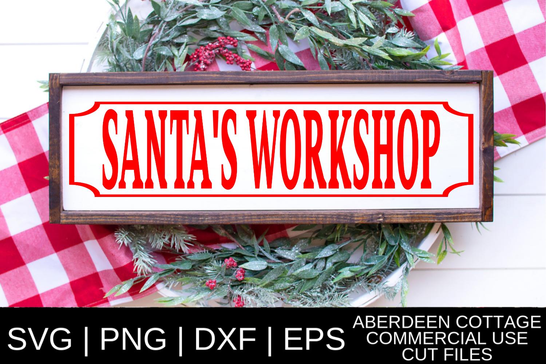 Santa's Workshop SVG example image 1