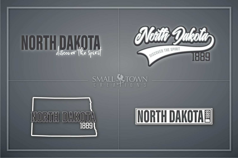 North Dakota, Discover the Spirit, logo, PRINT, CUT & DESIGN example image 1