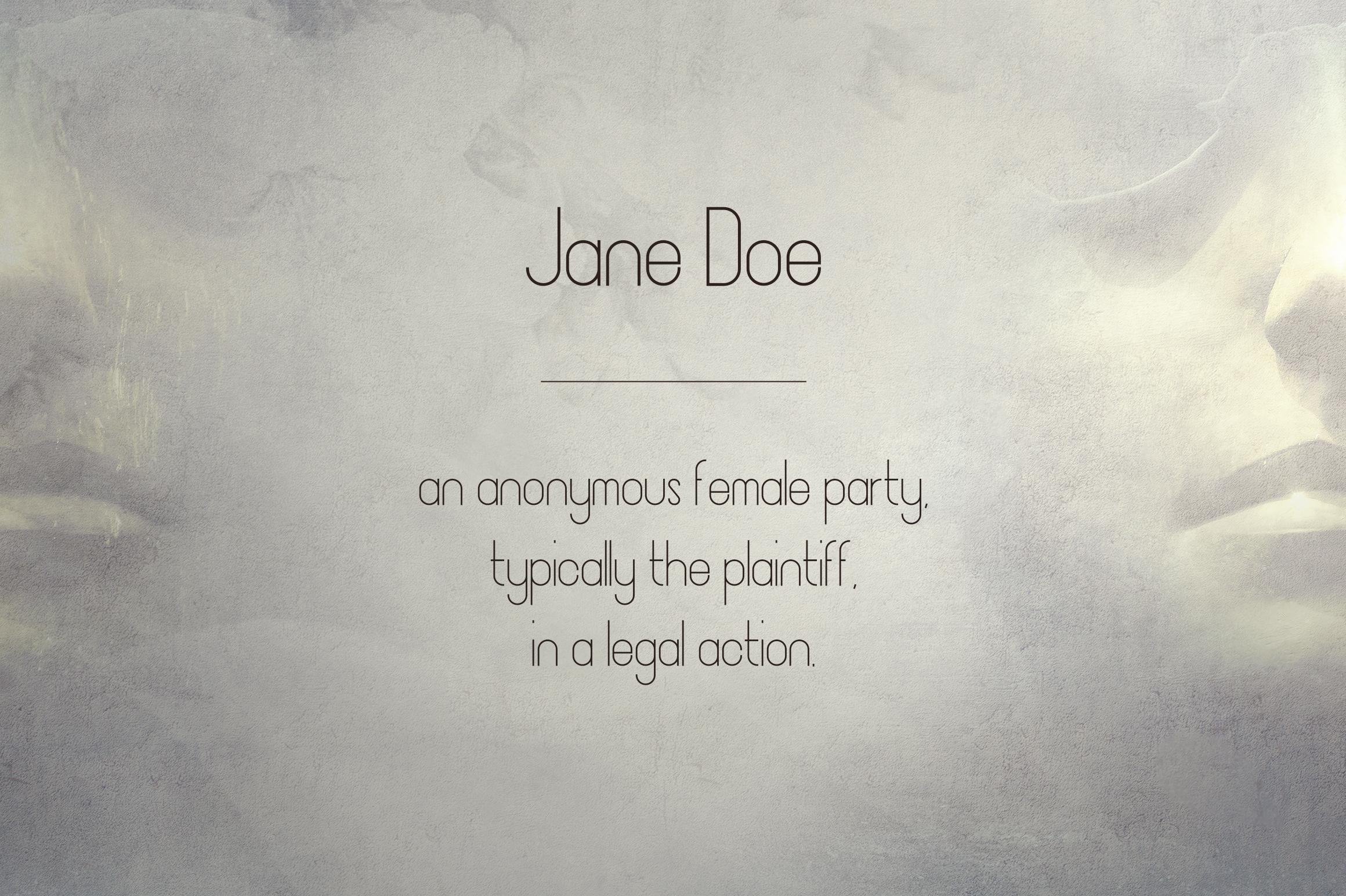 JaneDoe Sans Serif font example image 5