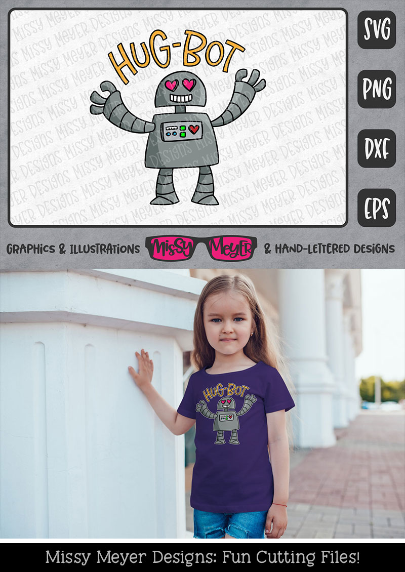 Hug-Bot - a cartoon robot programmed for hugging! example image 4