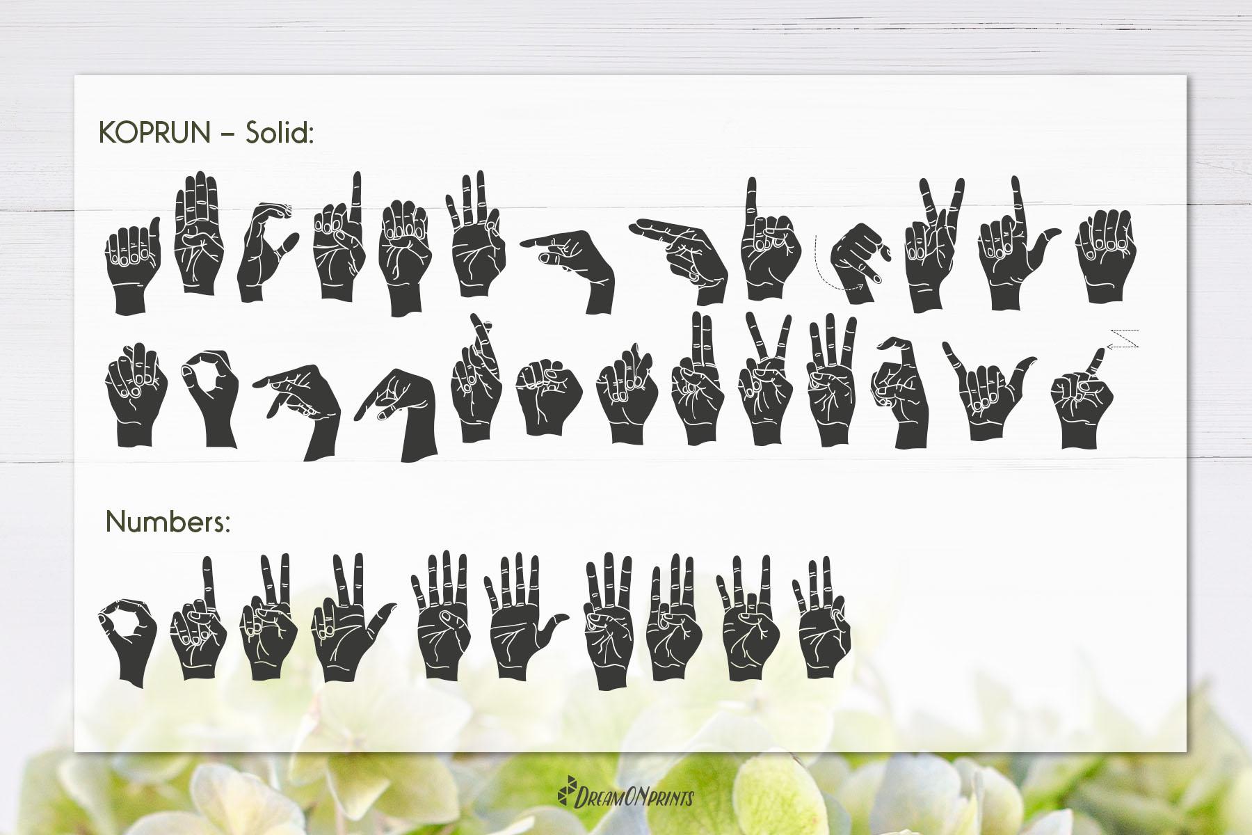 Koprun - American Sign Language Font example image 4