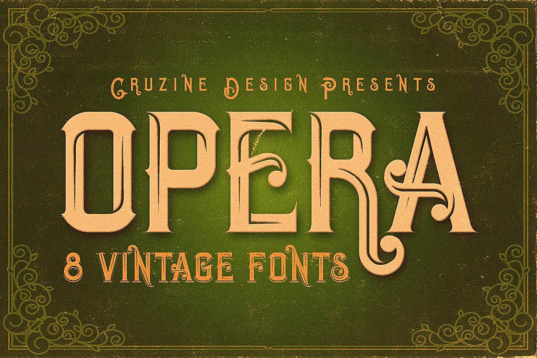 Opera Vintage Typeface example image 1