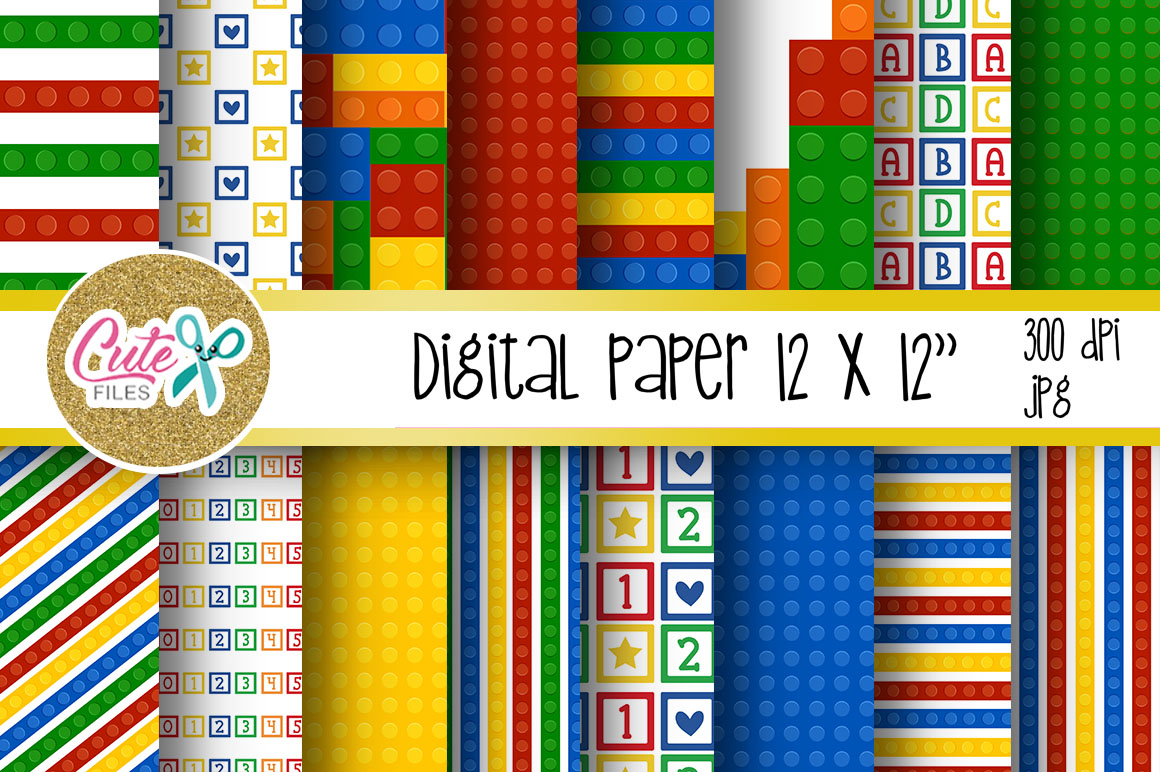 Funny blocks font for building blocks party example image 2