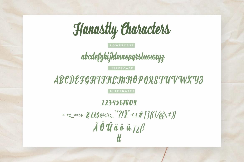 Hanastly Bold Script example image 7
