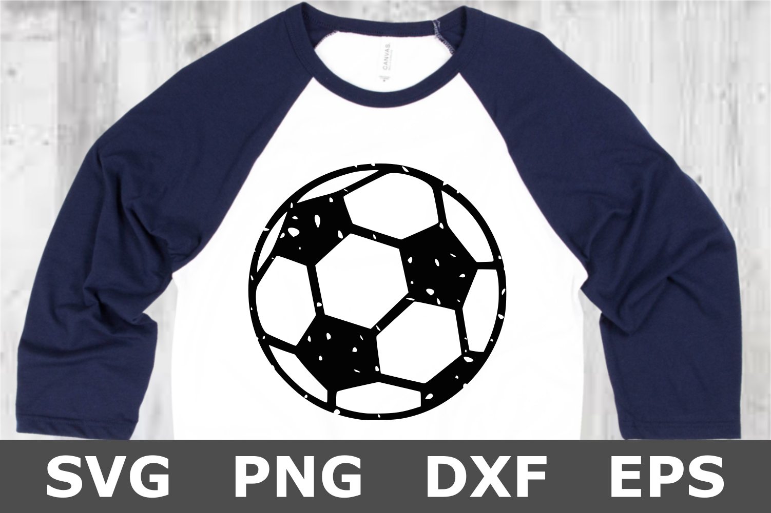 Grunge Soccer Ball - A Sports SVG Cut File example image 2