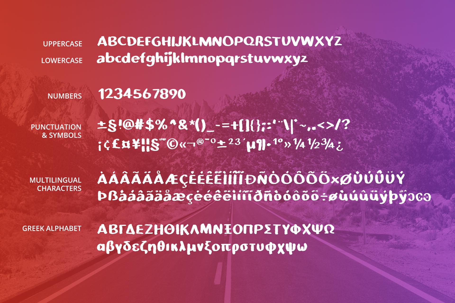 Boldera brush font example image 2