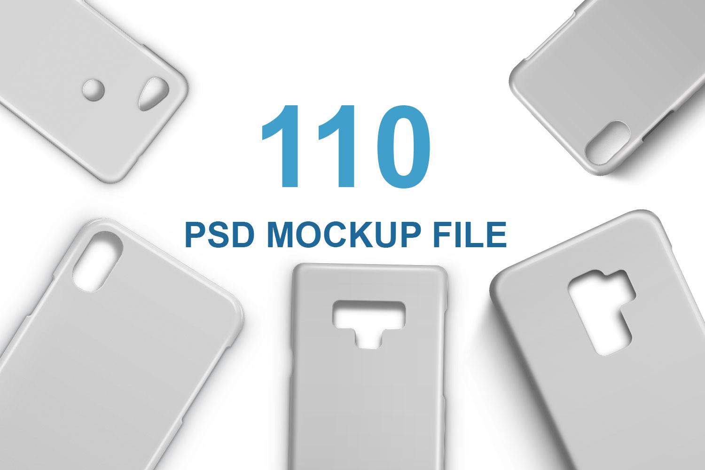 3d IMD Phone Case Mockups Bundle of 110 PSDs example image 1