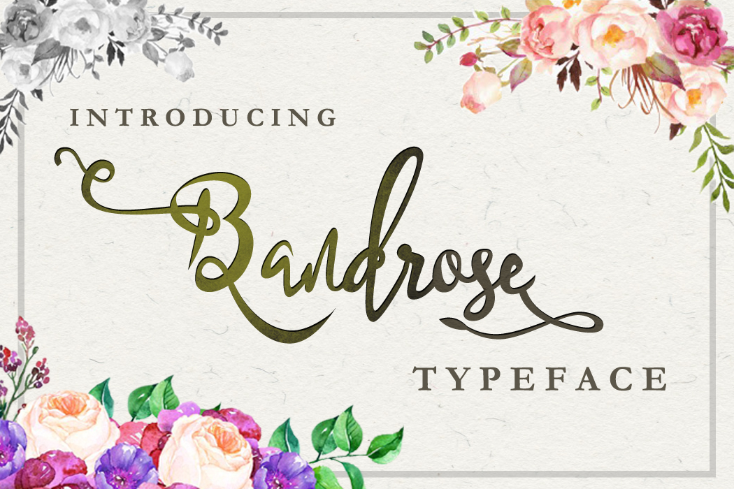 Bandrose typeface example image 1
