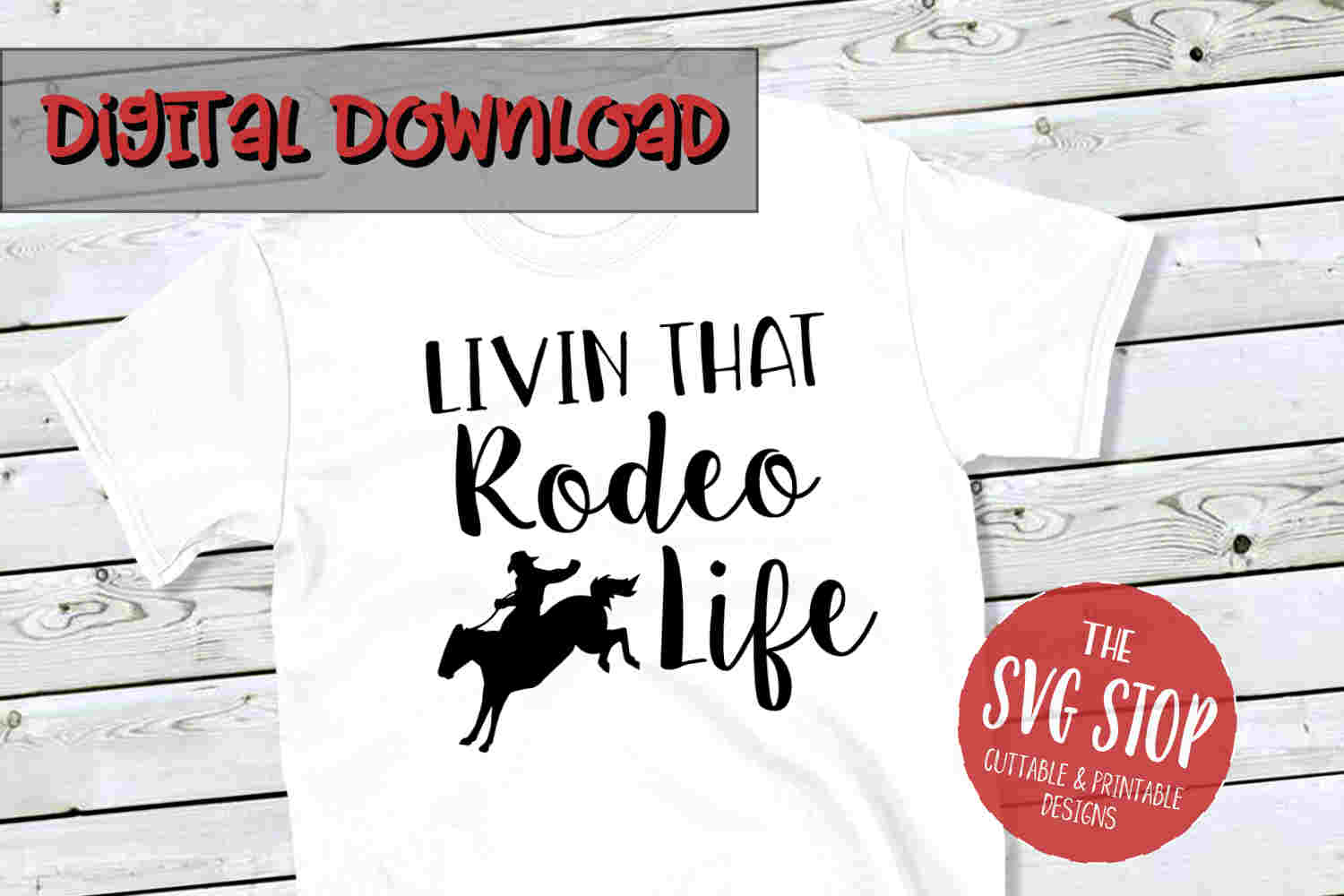 Rodeo Life -SVG, PNG, DXF example image 1