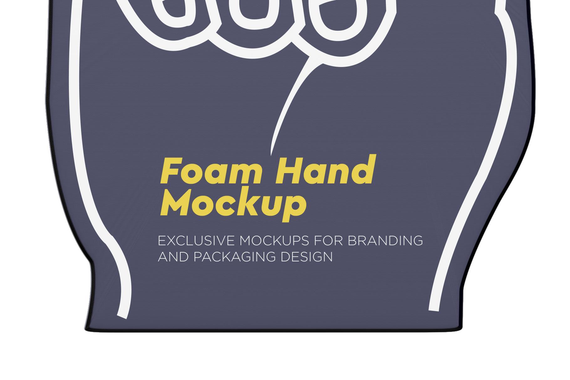 Fabric Sports Fan Foam Hand Mockup example image 6