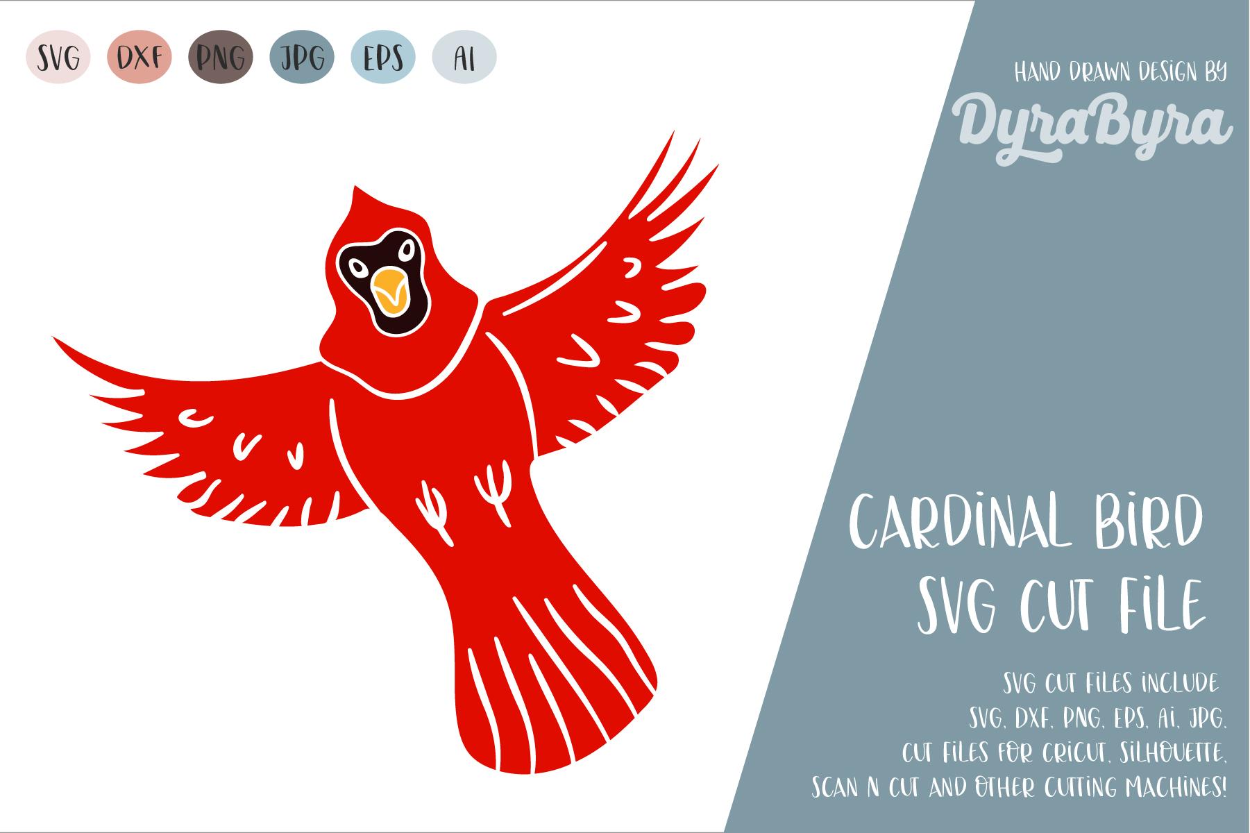 Cardinal Bird SVG / Birds SVG / Canada Forest Cut File example image 1