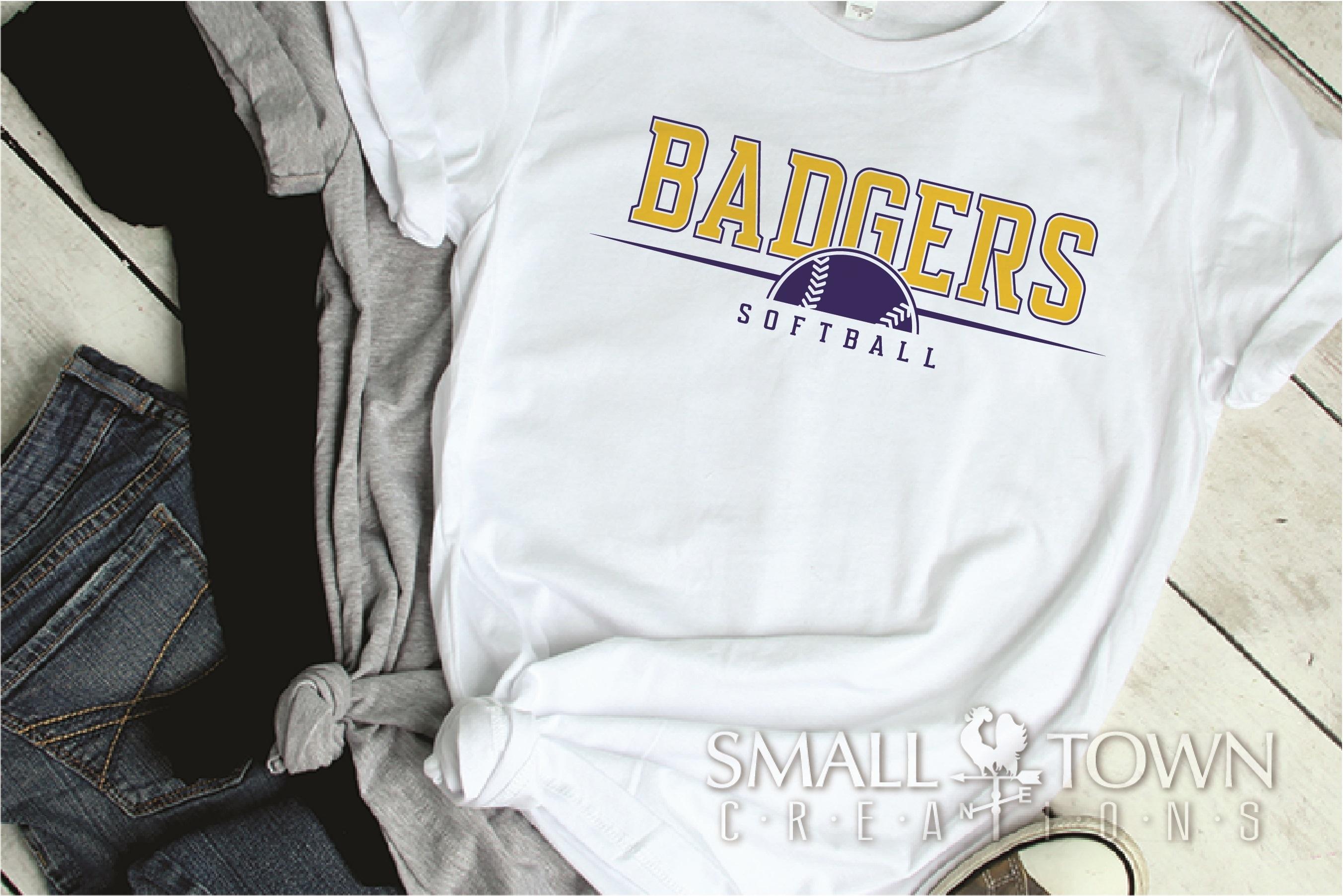 Badger, Badger Softball Team, Sport, PRINT, CUT & DESIGN example image 2
