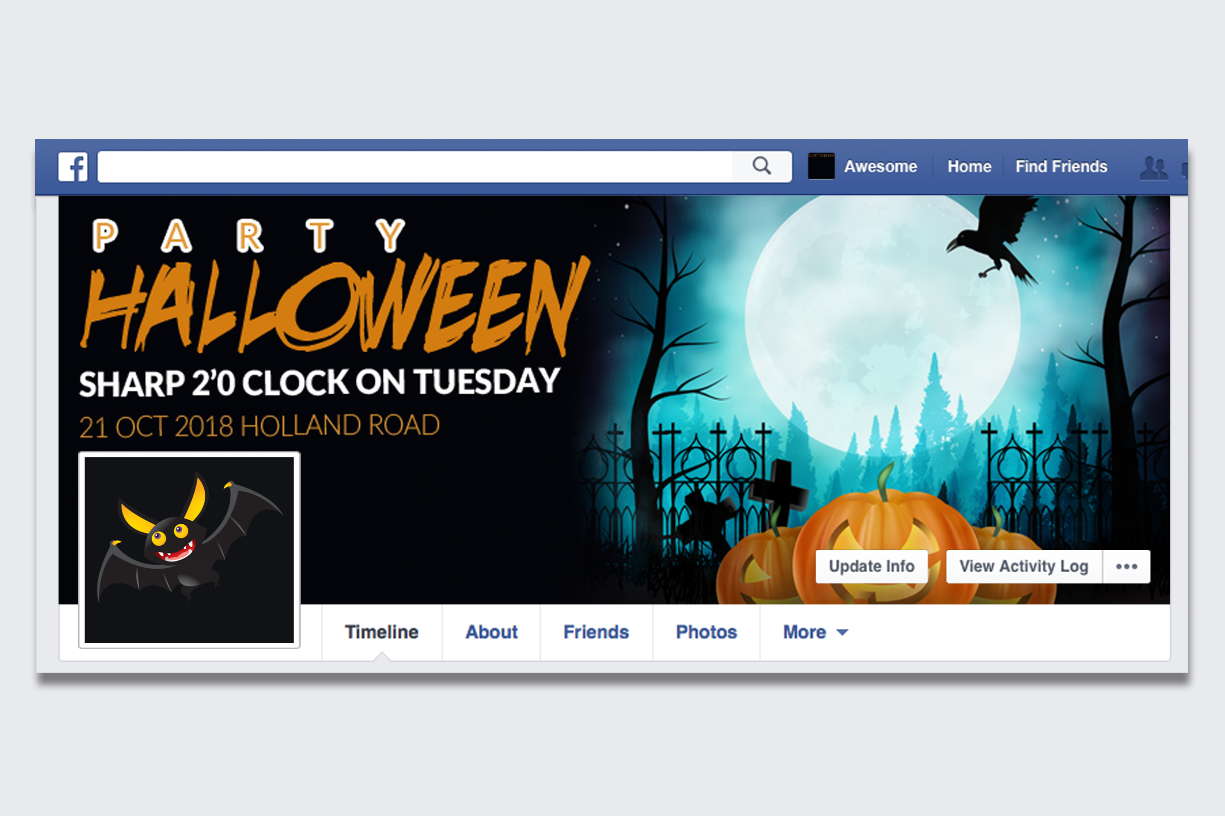 10 Halloween Facebook Timeline Cover Bundle example image 8