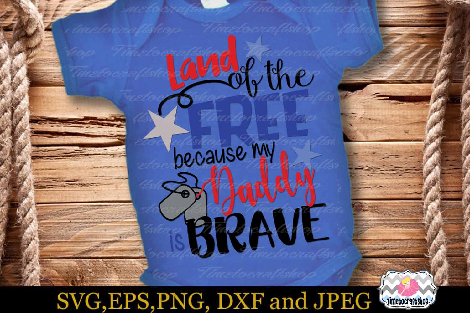 SVG, Dxf, Png Land of the Free Because of the Brave Bundle example image 4