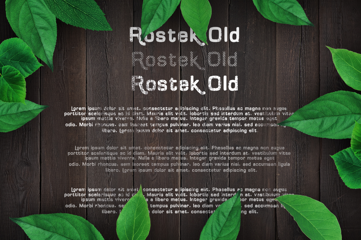 Rostek Old Typeface example image 2