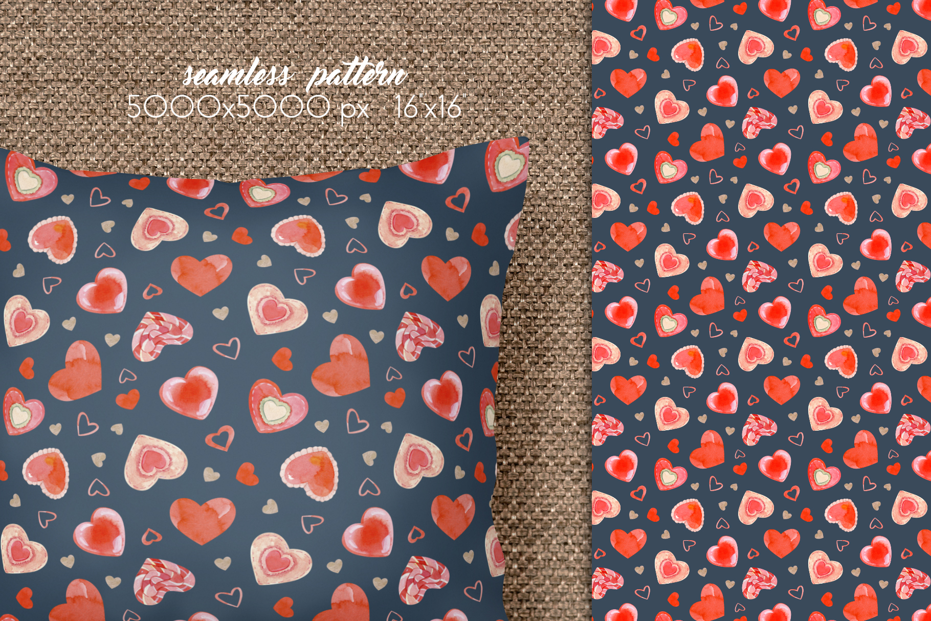 Valentines Day Seamless Patterns example image 9