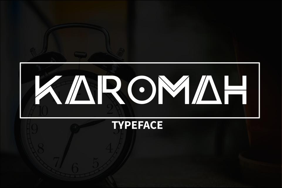 Karomah Typeface Font example image 1
