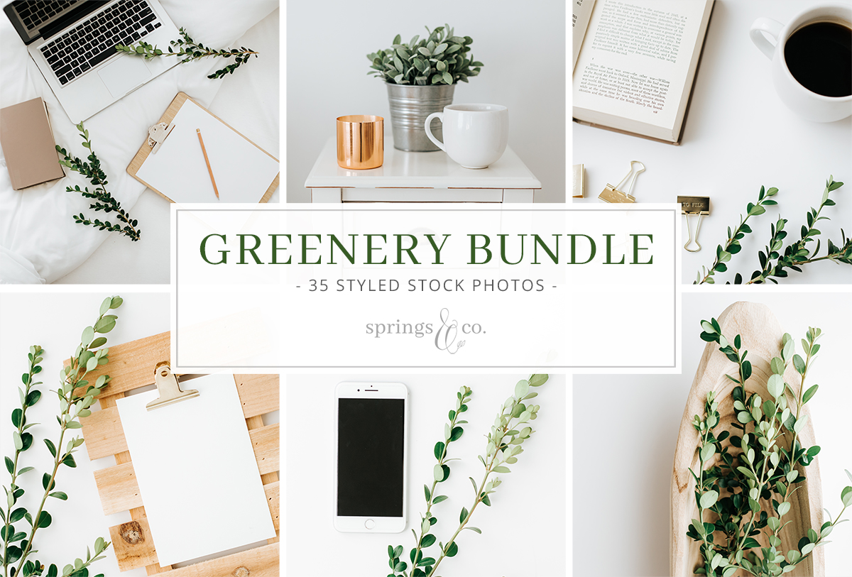 Greenery Styled Stock Photo Bundle example image 4