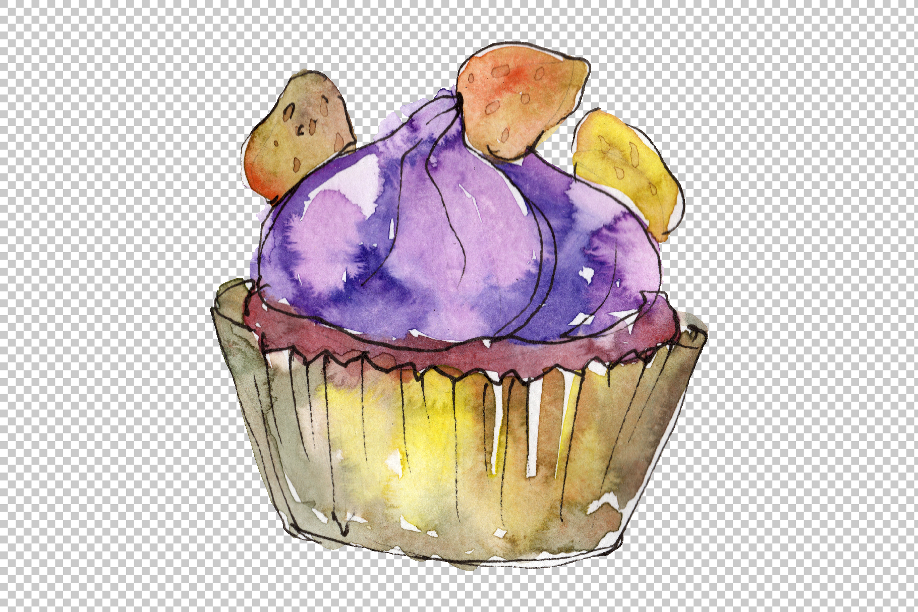 Dessert Love story Watercolor png example image 5