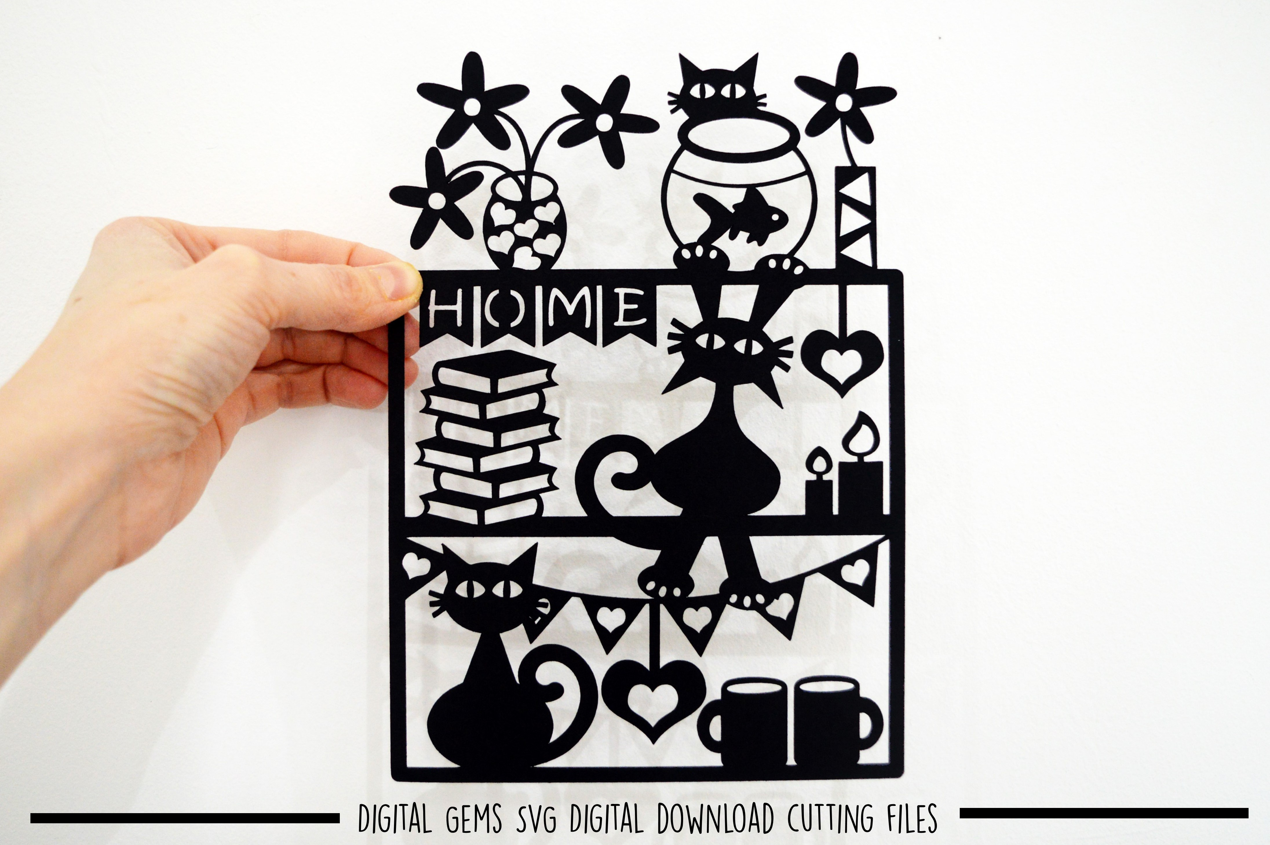 Cat and Dog paper cut bundle SVG / DXF / EPS files example image 10