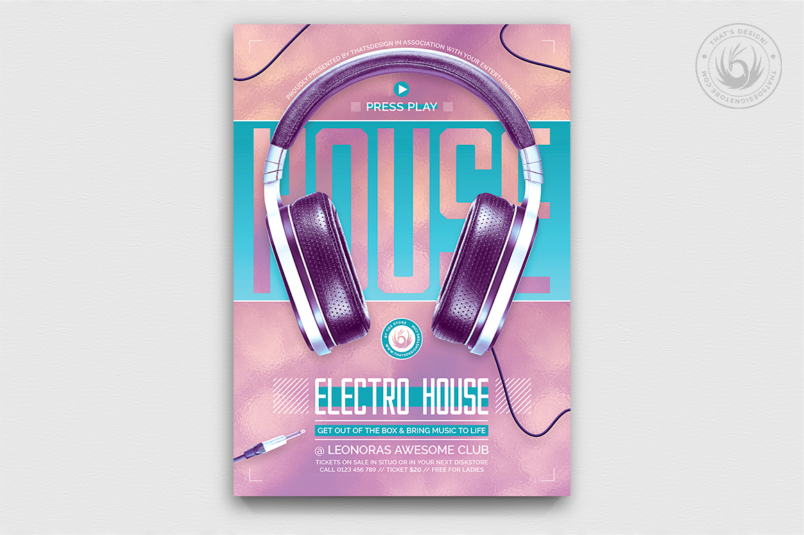 Special Dj Flyer Template V7 example image 1