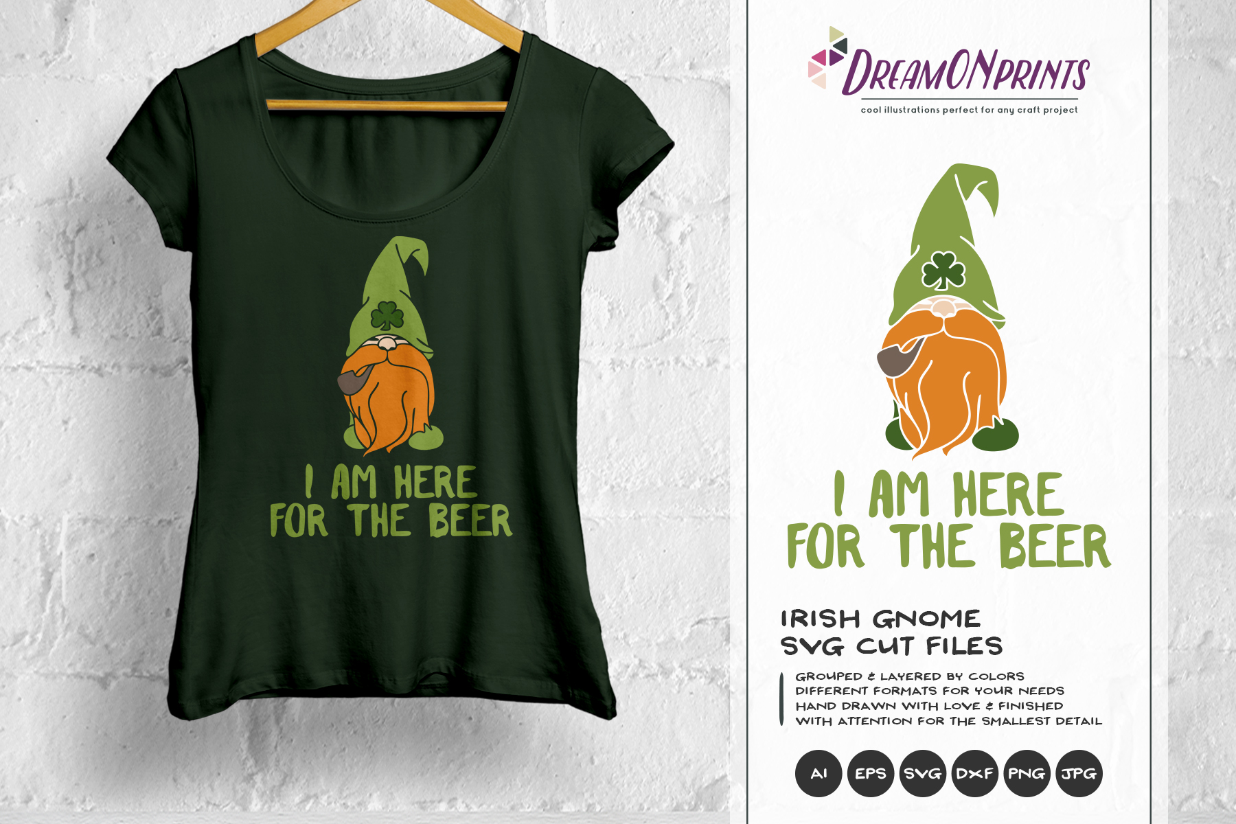 I am Here for the Beer SVG - Irish Gnome SVG example image 1